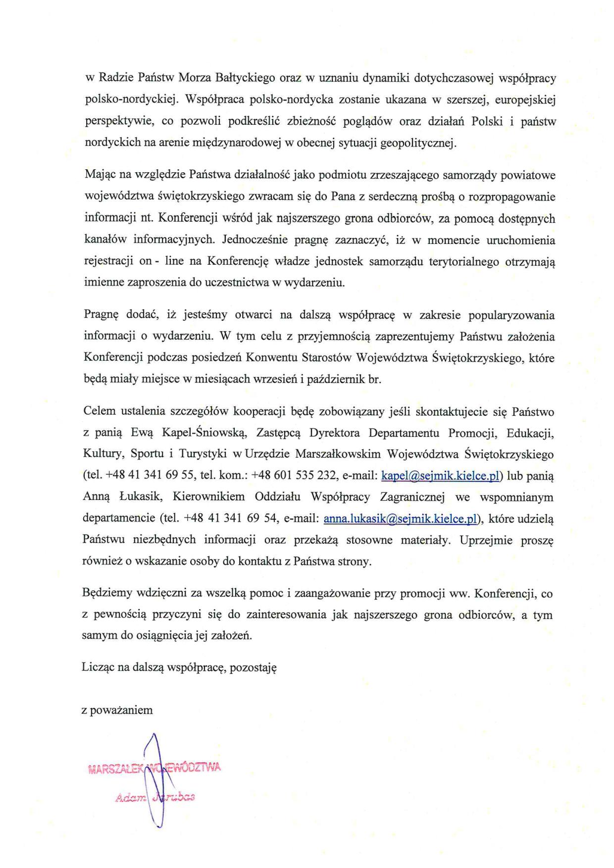 Zaproszenie Do Uczestnictwa W Iv Posiedzeniu Stałej Ogólnopolskiej